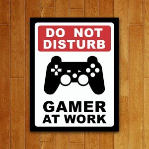 Placa Decorativa Gamer At Work - PS