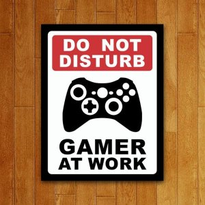 Placa Decorativa Gamer At Work - XB