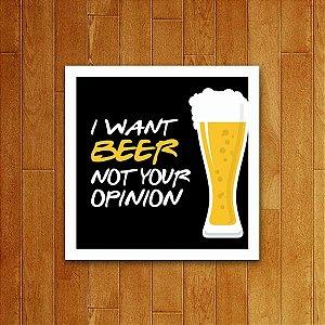 Placa Decorativa I Want Beer