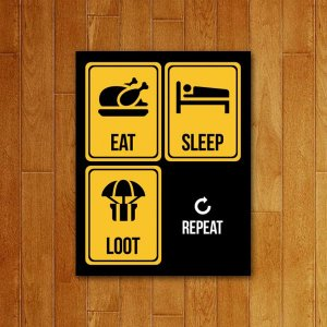 Placa Decorativa Loot Repeat