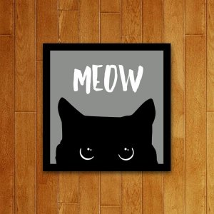 Placa Decorativa Meow V2