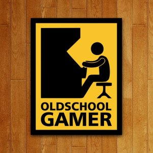 Placa Decorativa Oldschool Gamer