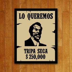 Placa Decorativa Tripa Seca V2