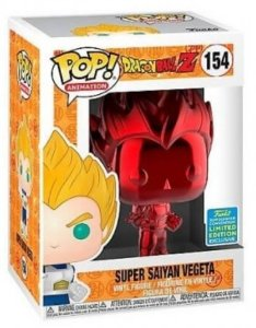 POP Funko - Vegeta Super Saiyan Red Chrome exclusivo - Dragon Ball - #154