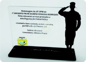 Placa de homenagem - Modelo Padrão