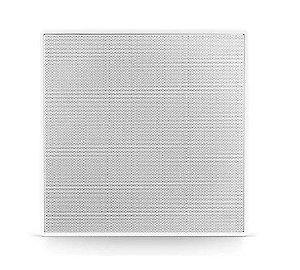 """Arandela Frahm - 6"""" Coaxial 50w Quadrada c/ Telar de Alumínio Caixa de Som de Embutir"""