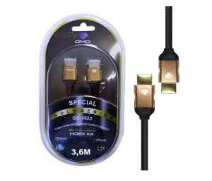 Cabo Hdmi 2.0 High Speed Ethernet 3d 4k Gs-3020 Dmd (3,6m)