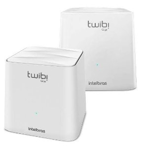 Conjunto Roteador Intelbras Twibi Giga, Mesh AC 1200, 2 Unidades, Branco