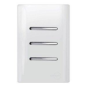 Interruptores 3 Teclas Simples - Dicompel Novara - 1200/8