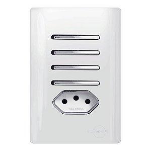 Interruptor Quaduplo 2 Simples + 2 Paralelos + 1 Tomada 10A - Dicompel Novara - 1200/188