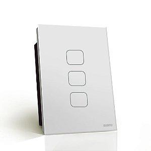 Interruptor Touch Rele 3 Pads - Branco Quadrado 4x2