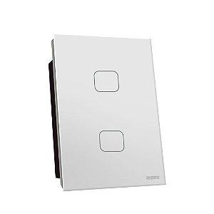 Interruptor Touch Rele 2 Pads - Branco Quadrado 4x2