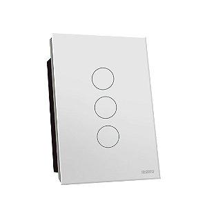 Interruptor Touch Rele 3 Pads - Branco Redondo 4x2