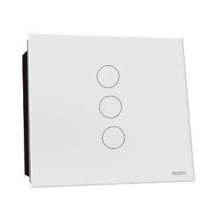 Interruptor Touch Rele 3 Pads - Branco Redondo 4x4