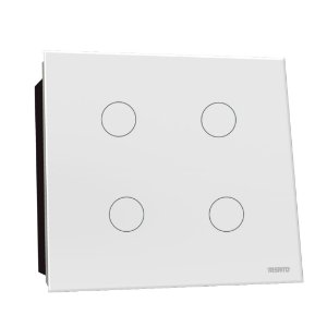 Interruptor Touch Rele 4 Pads - Branco Redondo 4x4