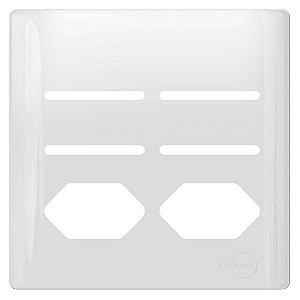 Tampa 2 Tomadas + 4 Interruptores 4X4 - Dicompel Novara - 1100/121