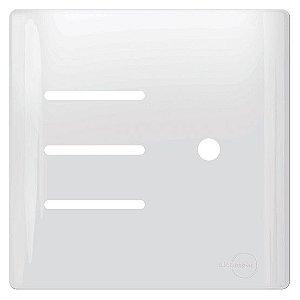 Tampa 3 Interruptores + 1 Saíde Fio / Dimmer 4X4 - Dicompel Novara - 1100/ESP01