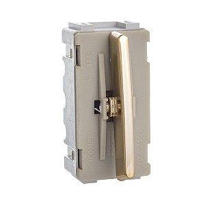 Módulo Interruptor Intermediário - Dourado - Dicompel Novara - 1200/163