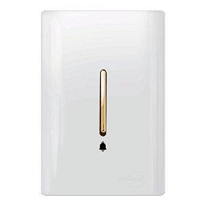 Pulsador Campainha Vertical - Dicompel Novara - 1200/17-Gold