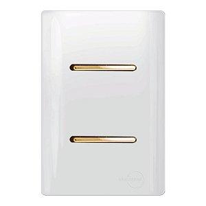 Interruptor 1 Simples + 1 Paralelo - Dicompel Novara - 1200/7-Gold