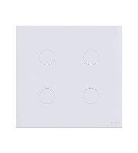 Interruptor Touch 4 Teclas Branco Lumenx Linha Glass 4x4