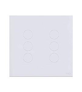 Interruptor Touch 6 teclas Branco Lumenx Linha Glass 4x4