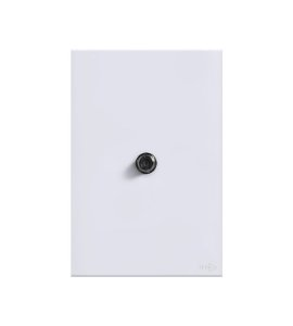 Tomada Coaxial p\ Antena  Branca Lumenx Linha Glass 4x2