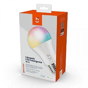 Lâmpada Led Rgb Wi Fi Inteligente 10w 800 Lumens Comando Voz
