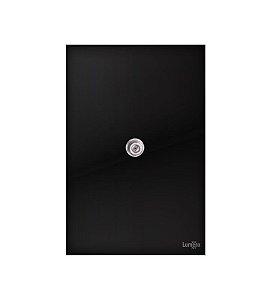 Tomada Coaxial p\ Antena Preto Lumenx Linha Glass 4x2