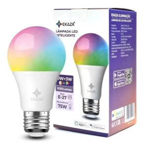 Smart Lâmpada Inteligente Wifi Ekaza, Controle por Comando de Voz