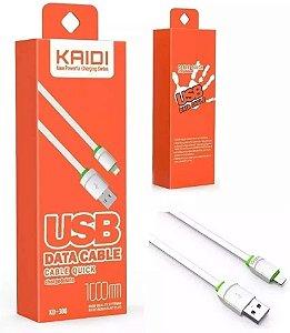 Cabo De Dados Para Iphone Carga Rápida Revestido Em Silicone Kaidi Kd-306