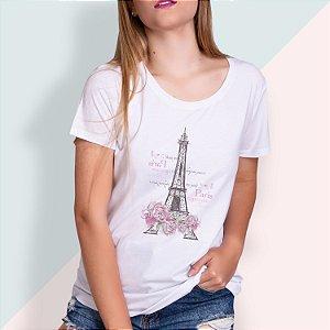 T-SHIRT FEMININA ILUSTRADA TORRE PARIS