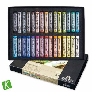 Giz Pastel Seco Rembrandt 30 Cores - General Selection