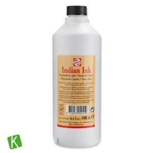 Tinta Nanquim Indian Ink Talens 490ml