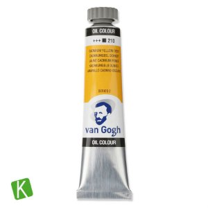 Tinta a Óleo Van Gogh 20ml 210 Cadmium Yellow Deep