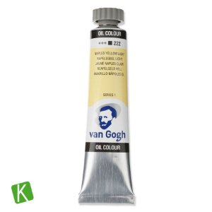 Tinta a Óleo Van Gogh 20ml 222 Naples Yellow Light