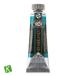 Tinta a Óleo Rembrandt 15ml 586 Cobalt Turquoise Blue