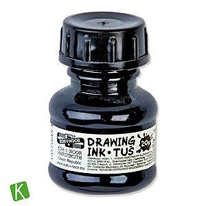 Tinta Drawing Ink para Caligrafia Koh-I-Noor Preta 20g