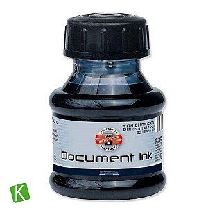 Tinta para Caneta Tinteiro Koh-I-Noor Preta 50g Acid Free