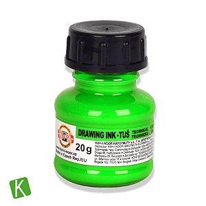 Tinta Drawing Ink para Caligrafia Koh-I-Noor Verde Fluorescente 20g