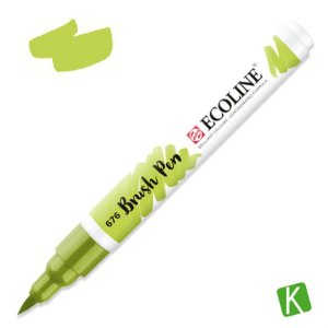 Caneta Ecoline Brush Pen Grass Green 676