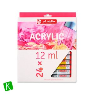 Estojo Tinta Acrílica 12ml Art Cretion 24 Cores