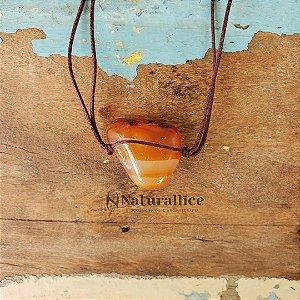 Colar aromático/ Difusor pessoal em Pedra Natural Rolada Ágata – Naturallice