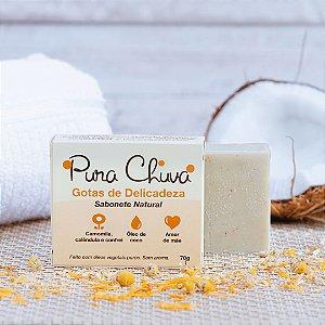 Sabonete Natural Camomila e Calêndula (sem aroma) 70gr – Pura Chuva