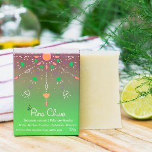 Sabonete Natural Limão, Copaíba e Tea Tree 100g – Pura Chuva