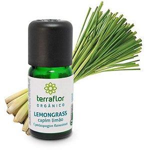 Óleo Essencial de Capim Limão/ Lemongrass Orgânico 10ml – Terra Flor