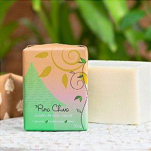 Sabão de Coco Natural Laranja e Extrato de Camomila 200g - Pura Chuva
