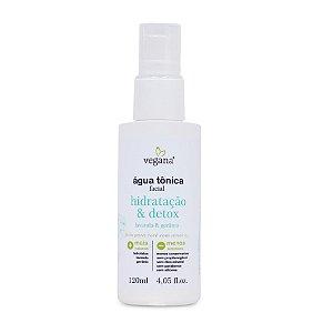 Água Tônica Facial Hidratação e Detox 120ml - Vegana by WNF