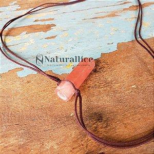 Colar Aromático/ Difusor pessoal em Pedra Natural em Ponta - Cherry – Naturallice