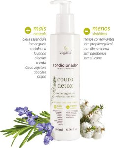 Condicionador Couro Detox Alecrim e Tea Tree 200ml - Vegana by WNF